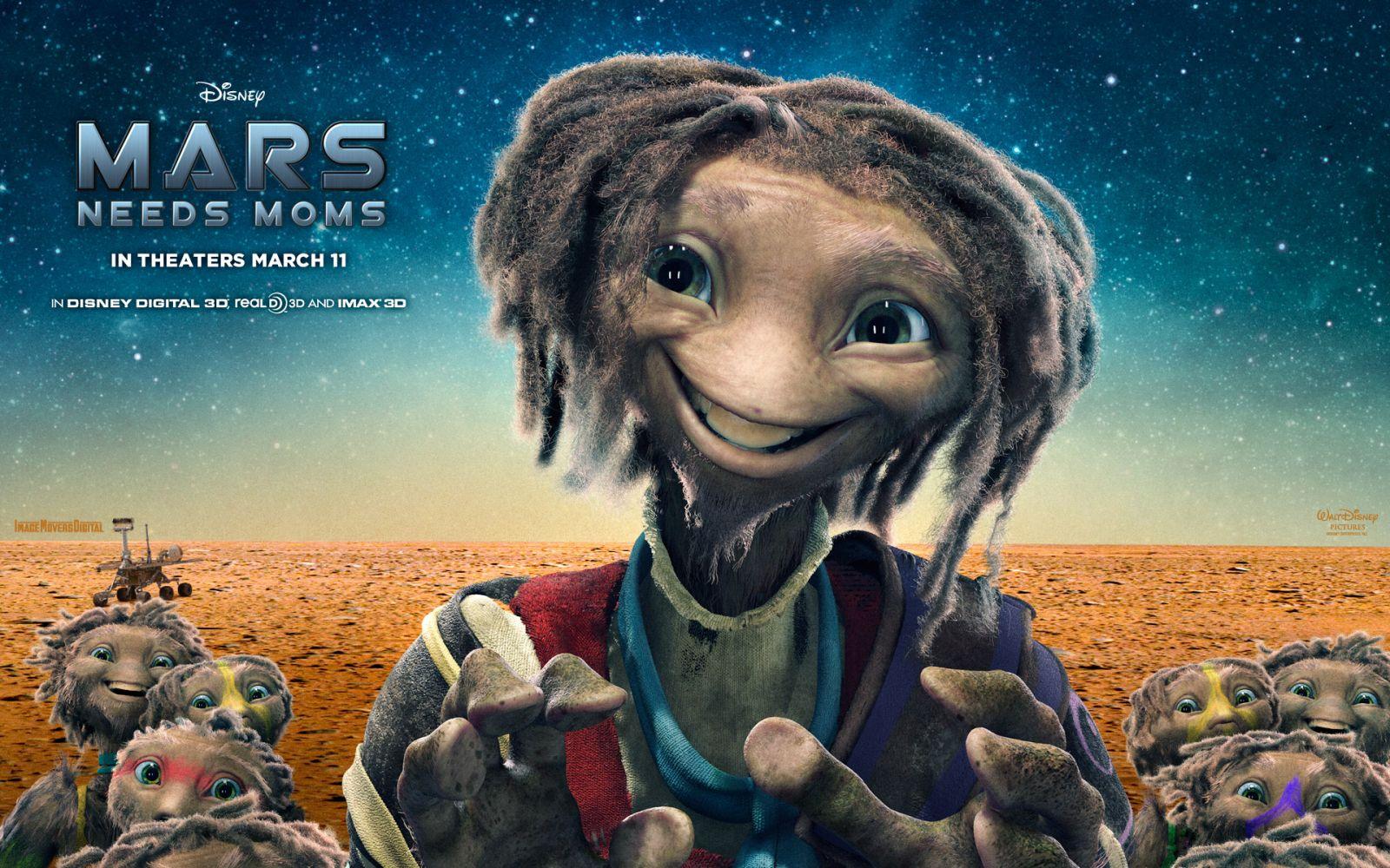 Cartel de Mars needs mom estrenada en 2011.